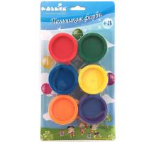 Набор пальчиковых красок, 6 цветов (94181 Идейка)