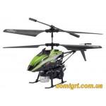 Вертолёт 3-к микро и/к BUBBLE мыльные пузыри (зелёный) (WL-V757g WL Toys)