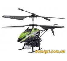 Вертоліт 3-до мікро та/до BUBBLE мильні бульбашки (зелений) (WL-V757g WL Toys)
