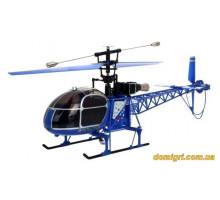 Вертоліт 4-до великої р/у 2.4 GHz WL Toys V915 Lama (синій)