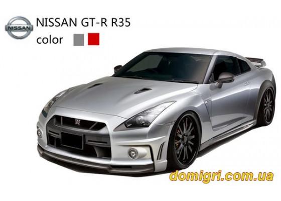 Машинка микро р/у 1:43 лиценз. Nissan GT-R (серый)