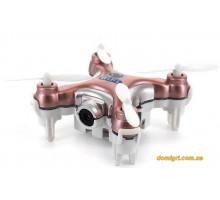 Квадрокоптер нано Wi-Fi CX-10W с камерой, розовый (CX-10Wp Cheerson)