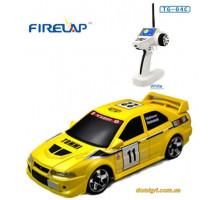 Автомодель р/у 1:28 IW04M Mitsubishi EVO 4WD, желтый (FLP-405G4y Firelap)