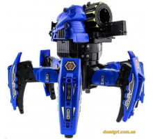 Робот-паук р/у Keye Space Warrior ракеты, диски, лазер, синий (KY-9003-1B Keye Toys)