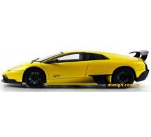 Машинка р/у 1:18 Lamborghini LP670-4 SV, металлическая, желтая (MZ-2152у Meizhi)
