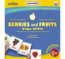 Карточки мини Ягоды и фрукты № 7, англ. (4223-а Всезнайка)