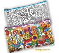 Расписной клатч-пенал My Color Clutch Love (CCL-01-04 Danko Toys)