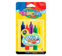 Мелки для рисования в ванне, блистер, 5 цветов, Colorino