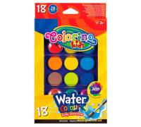Краски акварельные большие таблетки, 18 цветов, Colorino