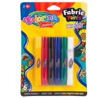 Краски для рисования по ткани, 6 цветов, Colorino