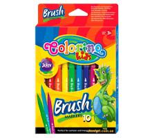 Фломастеры с кисточками Brush, 10 цветов, Colorino