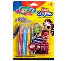 Олівці для дитячого гриму Metallic, 5 кольорів, Colorino
