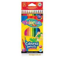 Карандаши цветные шестигранные, 12 цветов, Colorino