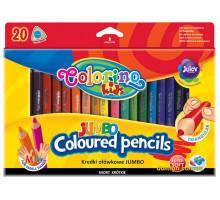 Карандаши цветные трехгранные, 20 цветов, Colorino