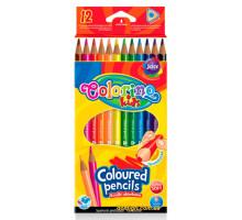 Карандаши цветные треугольные, 12 цветов, Colorino