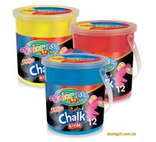 Олівці кольорові Jumbo в відерці (12 штук, 6 кольорів), Colorino