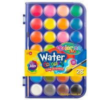 Краски акварельные с кисточкой, 28 цветов, Colorino