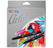 Маркери для ескізів Artist Fineliner 12 кольорів 0.8 мм, Colorino
