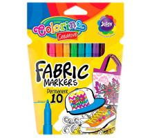 Маркери для малювання по тканині, 10 кольорів, Colorino
