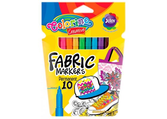 Маркеры для рисования по ткани, 10 цветов, Colorino