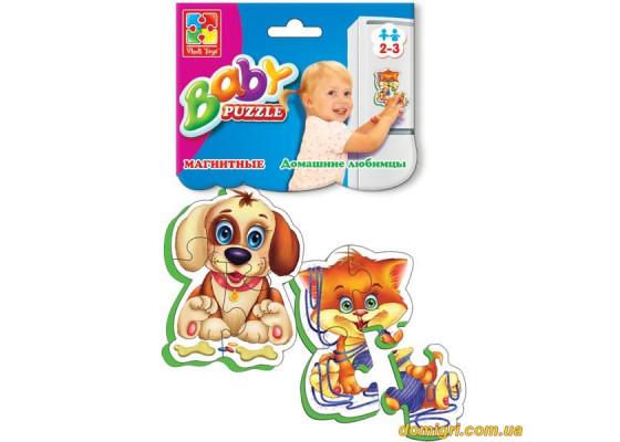 Магнитные беби-пазлы Домашние любимцы (VT3208-02 VladiToys)