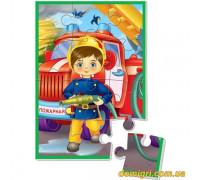 Мягкие пазлы А5. Мальчик-пожарник (VT1103-13 VladiToys)
