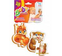 Магнитные беби-пазлы Пушистики (VT3208-04 Vladi Toys)