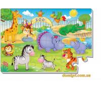 Мягкие пазлы А4 Зоопарк (VT1102-13 Vladi Toys)