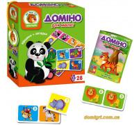 Домино для малышей Зоопарк, укр (VT2100-04 Vladi Toys)
