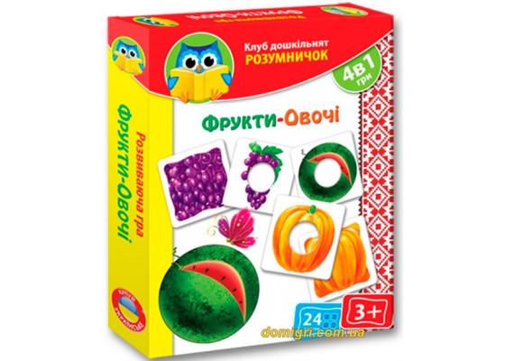Развивающая игра Фрукты-овощи, Умничек (украинский язык), Vladi Toys