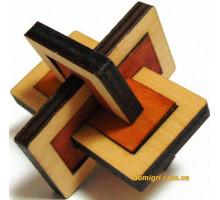 Дерев'яна головоломка Два в одному (0311 Крутиголовка)
