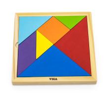 Гра-головоломка Кольоровий дерев`яний танграм, 7 ел. Viga Toys