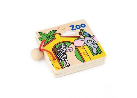 Деревянная книжка Первые английские слова Viga Toys