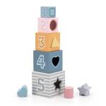 Деревянные кубики-пирамидка PolarB Сортируем и складываем Viga Toys
