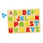 Деревянный пазл Английский алфавит заглавные буквы Viga Toys