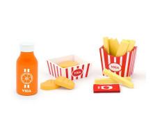 Набор Наггетсы с картошкой фри и соком Viga Toys