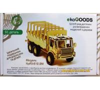 Дерев'яний 3D-пазл КрАЗ-В12.2М (19871988 ekoGOODS)