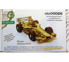 Дерев'яний 3D-пазл Феррарі F2012 (19871991 ekoGOODS)