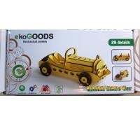 Деревянный 3D-пазл Ретро-авто (19871998 ekoGOODS)