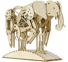 Деревянный механический конструктор Слон (1004 Playwood)