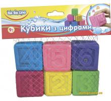 Игрушка для игр в воде Кубики с цифрами (57089 Bebelino)
