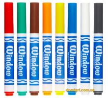 8 смываемых фломастеров для рисования на стекле (58-8165 Crayola)
