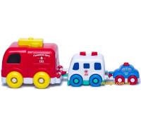 Музыкальная пирамидка-Машинки, белая скорая помощь (58020-1 BeBeLino)