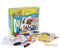 Набор для творчества с фломастерами и наклейками Мой первый пазл, Mini Kids (81-8113 Crayola)