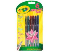 Набор из 6 гелевых ручек с блестками (7747 Crayola)