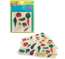 Набор стикеров для самых маленьких Овощи и фрукты (180 наклеек), Mini Kids (81-2010 Crayola)