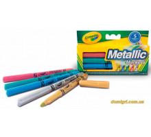Набор фломастеров цвета металлик, 5 штук (58-5054 Crayola)
