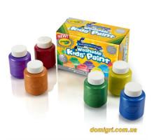 Смываемые краски цвета металлик, 6 цветов (54-5000 Crayola)