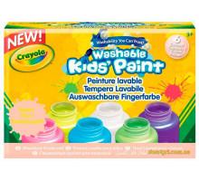 Смываемые неоновые краски, 6 цветов (54-2391 Crayola)