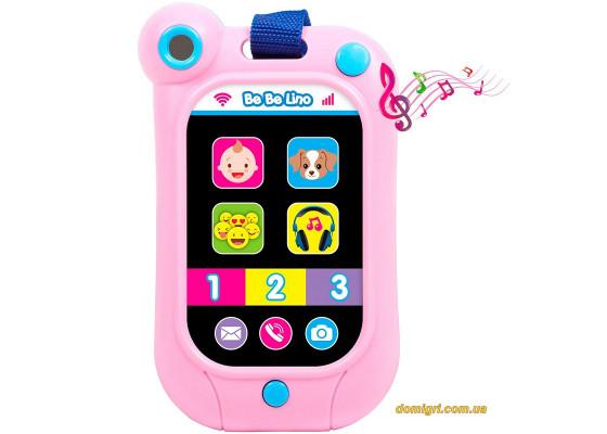 Интерактивный смартфон (розовый), BeBeLino